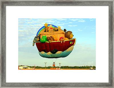Arky Hot Air Balloon Framed Print by Kathy  White