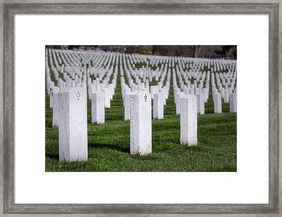 Arlington National Cemeterey Framed Print by Susan Candelario