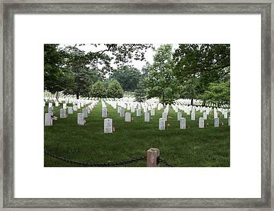 Arlington National Cemetery - 01133 Framed Print by DC Photographer