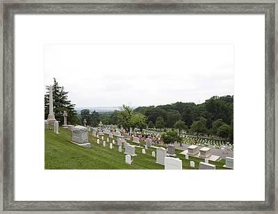 Arlington National Cemetery - 01135 Framed Print by DC Photographer