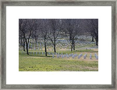 Arlington National Cemetery - 12124 Framed Print by DC Photographer