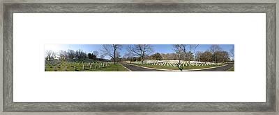 Arlington National Cemetery Panorama 2 Framed Print by Metro DC Photography
