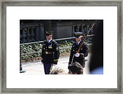 Arlington National Cemetery - Tomb Of The Unknown Soldier - 121222 Framed Print by DC Photographer