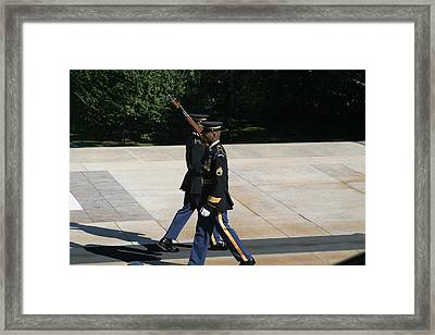 Arlington National Cemetery - Tomb Of The Unknown Soldier - 12127 Framed Print by DC Photographer