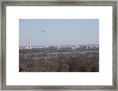 Arlington National Cemetery - View From Arlington House - 12122 Framed Print by DC Photographer