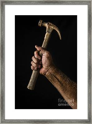 Arm And Hammer Framed Print by Diane Diederich