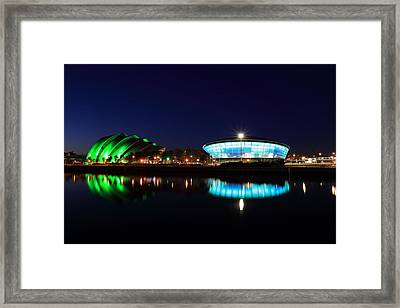 Armadillo And The Hydro At Night Framed Print by Maria Gaellman