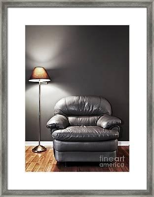 Armchair And Floor Lamp Framed Print by Elena Elisseeva