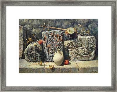 Armenian Stones Framed Print by Meruzhan Khachatryan