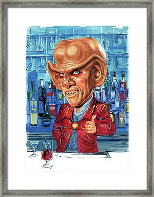 Armin Shimerman As Quark Framed Print by Art