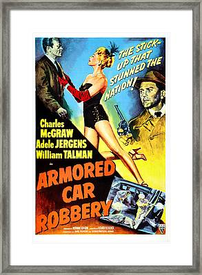 Armored Car Robbery, Us Poster Framed Print by Everett