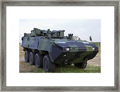 Armored Vehicle Of The Czech Army Framed Print by Timm Ziegenthaler