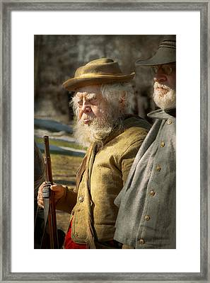 Army - A Seasoned Vet Framed Print by Mike Savad