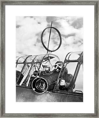 Army Air Force Camera Man Framed Print by Underwood Archives
