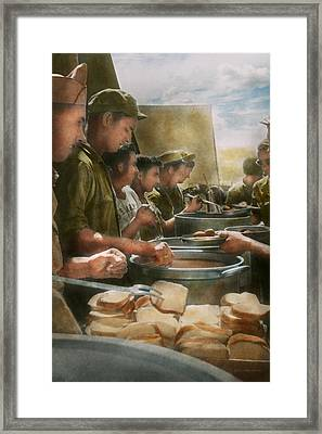 Army - Another Potato Please Framed Print by Mike Savad