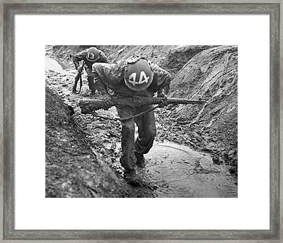 Army Basic Training Framed Print by Underwood Archives