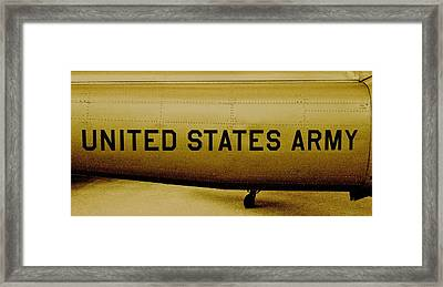 Army Chopper Framed Print by Benjamin Yeager