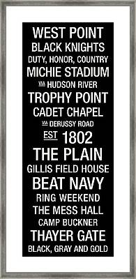 Army College Town Wall Art Framed Print by Replay Photos