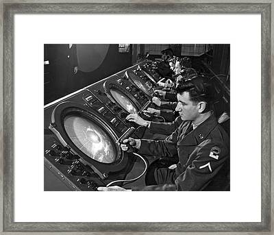 Army Missile Defense System Framed Print by Underwood Archives