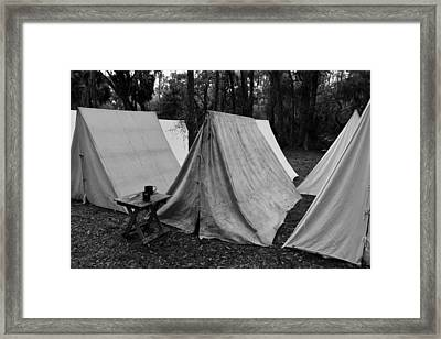 Army Tents Circa 1800s Framed Print by David Lee Thompson