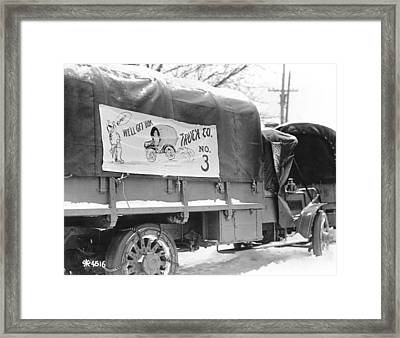 Army Vehicle Signage Framed Print by Underwood Archives