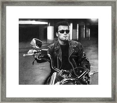 Arnold Schwarzenegger As The Terminator Framed Print by William Leung