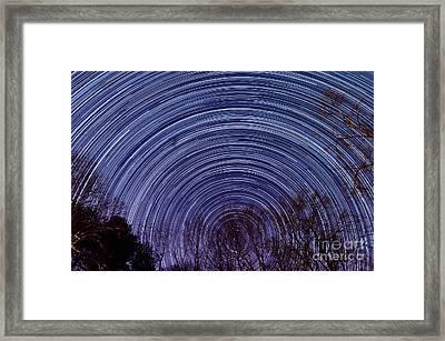 Arnold Startrails Framed Print by Benjamin Reed