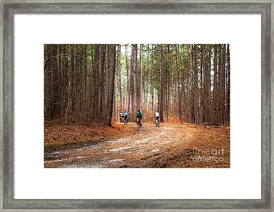Around The Bend Framed Print by Sally Simon
