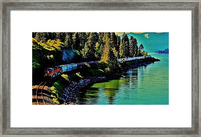 Around The Lake Framed Print by Benjamin Yeager