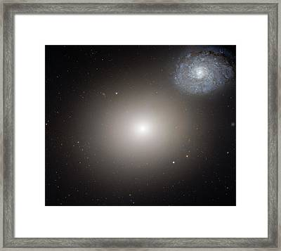 Arp 116 Galaxy Pair Framed Print by Nasa, Esa, And The Hubble Heritage (stsci/aura)- Esa/hubble Collaboration