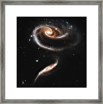 Arp 273 Rose Galaxies Framed Print by Ricky Barnard