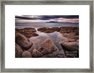 Arran At Sunset Framed Print by John Farnan