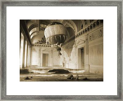Arrested Expansion Or Cardiac Arrest Framed Print by George Grie