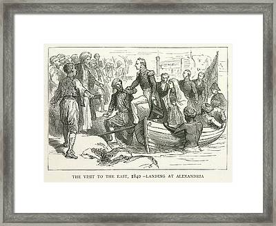Arriving At Alexandria Framed Print by British Library
