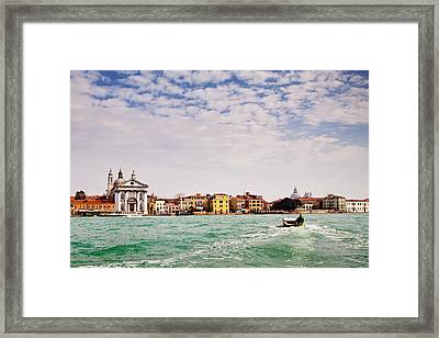 Arriving In Venice By Boat Framed Print by Susan  Schmitz