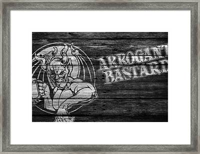 Arrogant Bastard Framed Print by Joe Hamilton