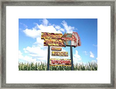 Arrow Motel  Framed Print by Larry  Page