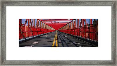 Arrow Signs On A Bridge, Williamsburg Framed Print by Panoramic Images