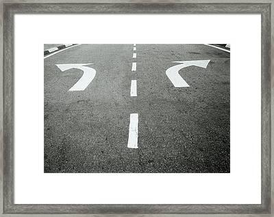 Arrows Framed Print by Shaun Higson