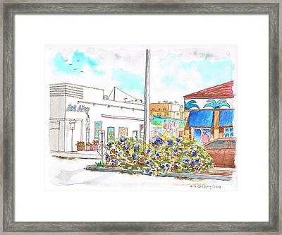 Art Alley In Lompoc - California Framed Print by Carlos G Groppa