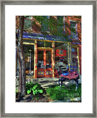 Art And Coffee Framed Print by Mel Steinhauer