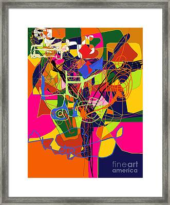 Art And Writing 2 Framed Print by David Baruch Wolk