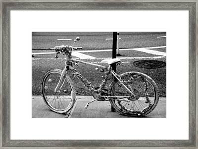 Art Bike Framed Print by Laura Jimenez