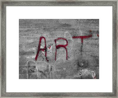 Art Framed Print by Dan Sproul