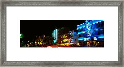 Art Deco Architecture Miami Beach Fl Framed Print by Panoramic Images