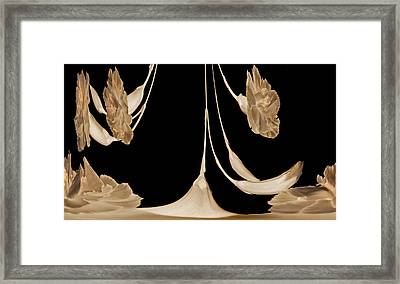 Art Deco Carnations Framed Print by Terence Davis