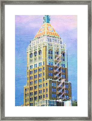 Art Deco Lives At Philtower Framed Print by Janette Boyd