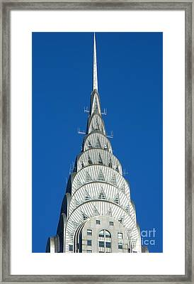 Art Deco Skyscraper - The Chrysler Building Framed Print by Emmy Marie Vickers