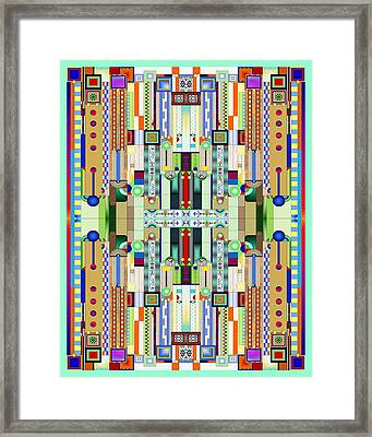 Art Deco Stained Glass 2 Framed Print by Ellen Henneke