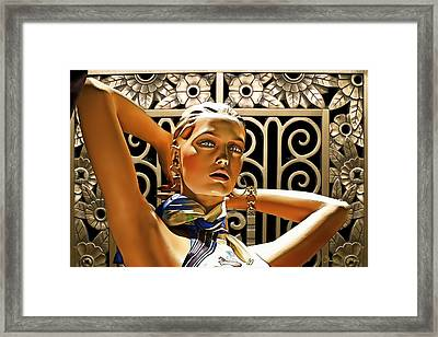Art Deco - Swimsuit Framed Print by Chuck Staley